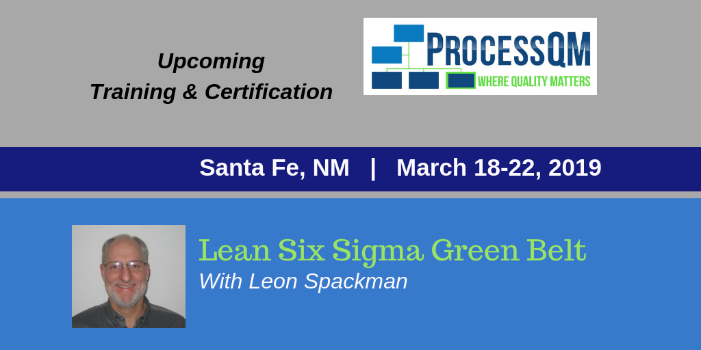 Processqm Offers Lean Six Sigma Green Belt Training And